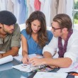 Team of fashion designers working together — Stock Photo