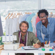 Attractive fashion designers working together — Stock Photo