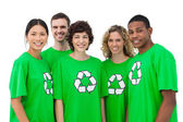 Group of environmental activists smiling — Stock Photo
