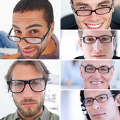 Collage of attractive men — Stock Photo
