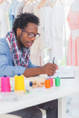 Fashion designer sketching — Stock Photo