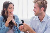 Man asking his partner to marry him — Stock Photo