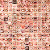 Collage of bright smiles — Stock Photo
