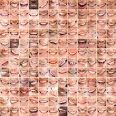 Collage of bright smiles — Stock Photo