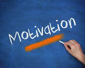 Mão escrevendo motivação — Fotografia Stock