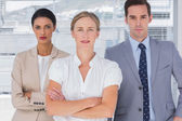 Serious group of business — Stock Photo
