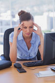 Stressed out businesswoman — Stock Photo