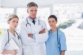 Three serious doctors — Stock Photo