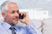 Businessman making a call — Stock Photo