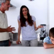 Parent quarrelling about their son — Vídeo Stock