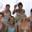 Stock Video: Women toasting with cocktail
