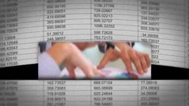 紙のシート上の ip アドレスを持つ let ビジネス会議が表示されます — ストックビデオ