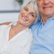 Elderly couple embracing — Stock Photo #28046621