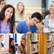 Collage of pictures showing students — Stock Photo
