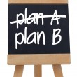 Plan A and Plan B written on chalkboard — Stock Photo