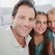Portrait of a cute family — Stock Photo