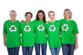 Team of female environmental activists — Stock Photo