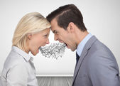 Business people shouting at each other — Stock Photo