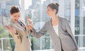 Businesswomen having a dispute — Stock Photo
