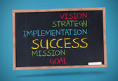 Several words about success written with colored chalk — Stock Photo