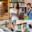 Collage of pictures with students — Stock Photo