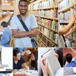 Stock Photo: Montage with pictures of cheerful students