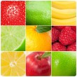 Collage of pictures of fruits — Photo