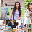 Montage with students — Stock Photo