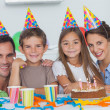 Family celebrating a birthday — Stock Photo