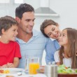Cute family during the dinner — Stock Photo