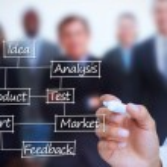 podnikatel psaní obchodní podmínky — Stock fotografie