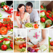 Collage of various vegetables — Stock Photo