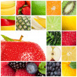 Stock Photo: Collage of fruits