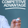 Stock Photo: Businessmwriting competitive advantage