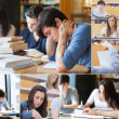 Montage with pictures of students — Stockfoto