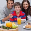 Stock Photo: Family during breakfast
