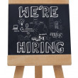 We are hiring written with chalk — стоковое фото #28057941