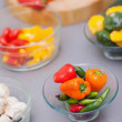 Close up of pimentos — Stock Photo