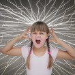 Cute child screaming — Stock Photo #28058275