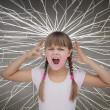 Cute child screaming — Stock Photo