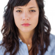 Portrait of a serious young woman — Stock Photo