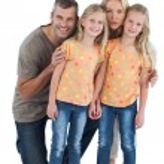 Happy family posing for the camera — Stock Photo
