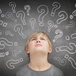 Confused child thinking — Stock Photo