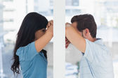 Depressed couple divided — Stock Photo