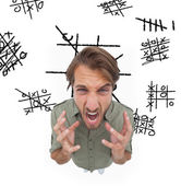 Outraged man gesturing and yelling — Stock Photo