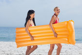 Friends walking on beach — Stock Photo
