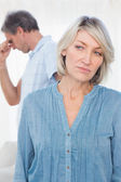 Couple feeling distant after argument — Stock Photo
