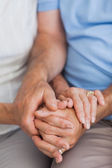 Close up of hands — Stock Photo
