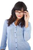 Beautiful woman wearing glasses — Stock Photo