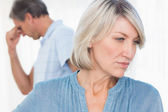 Couple feeling distant after fight — Stock Photo